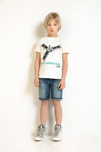 Roomwit T-shirt met print